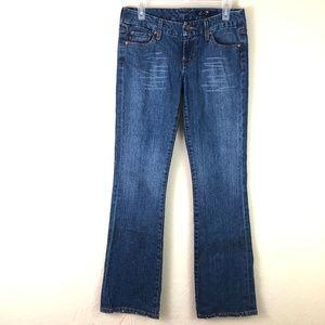 7FAMK Seven Jeans Sz 29 Premium Boot Mid Rise Blue